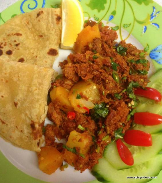 Tin Mutton With Potatoes Curry
